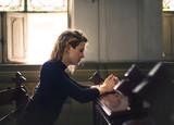 Woman praying in the church - 176041228