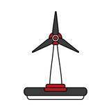 wind turbine icon image vector illustration design - 176041854