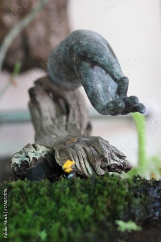 Aluminium Boeddha Hand sculpture