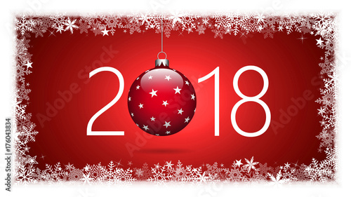 Poster Rood traf. 2018. Happy New Year