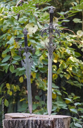 ancient European swords Poster