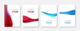 Set Abstract wave white vector design.Vector business brochure, flyer template - 176048644