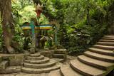 concrete structure in the jungle at Las Pozas Xilitla Mexico  - 176051204