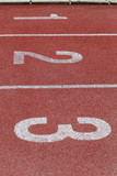 Athlete Track or Running Track with numbers 1 to 3, Business and Motivation.