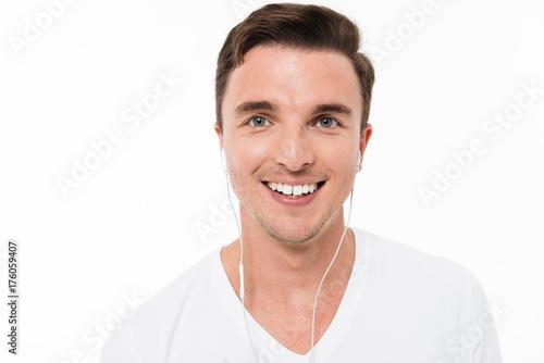 Póster Close up portrait of a smiling happy man