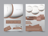 Flyer template. Business brochure. Editable A4 poster for design education presentation website magazine cover.  Brown color. - 176061219