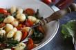 Vegan gnocchi with vegetables - 176061850