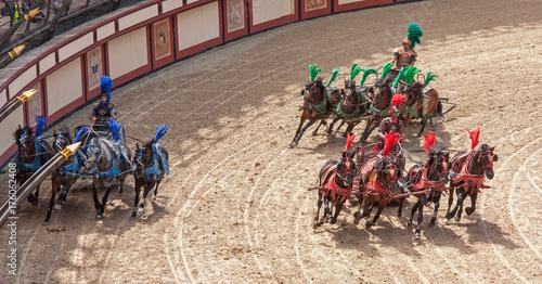 Foto Murales Puy du Fou. Course de chars. Les Epesses. Vendée