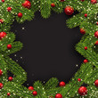 Christmas background with spruce branches. - 176063082