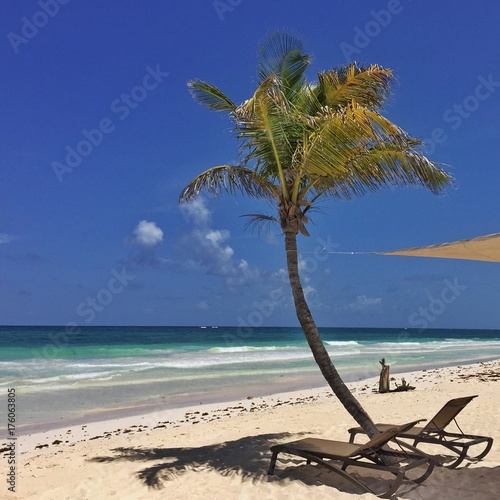 Tuinposter Tropical strand beach