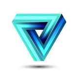 Penrose impossible triangle geometric 3D icon optical illusion vector illustration for logo idea - 176064684