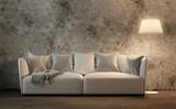 Couch vor Betonwand - 176065410