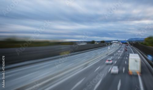 Fridge magnet busy highway traffic