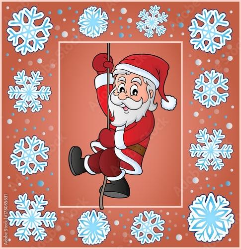 Deurstickers Voor kinderen Christmas ornamental greeting card 4