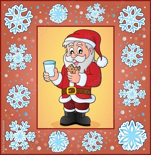 Deurstickers Voor kinderen Christmas ornamental greeting card 5