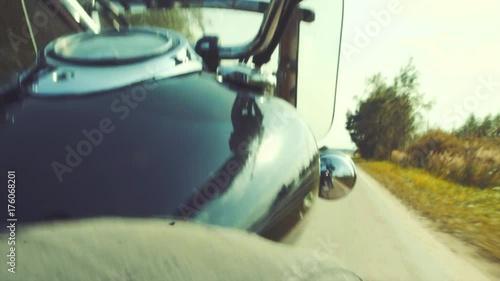 Foto op Plexiglas Motorsport Biker on the road tripping
