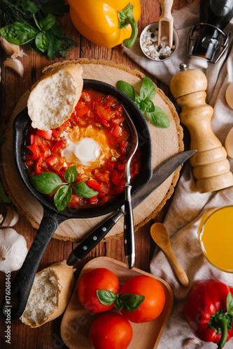 Israeli food Shakshuka - 176068465