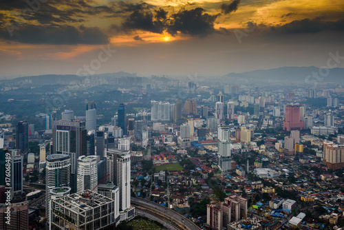 Foto op Canvas Kuala Lumpur Kuala Lumpur at dusk