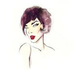 Fashion illustration. Beautiful woman  - 176069442