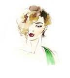 Fashion illustration. Beautiful woman  - 176069455