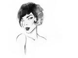 Fashion illustration. Beautiful woman  - 176069463