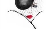 Fashion illustration. Beautiful woman in hat - 176069679