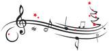 Notenschüssel Weihnachten Weihnachtsbaum Musik - 176069897