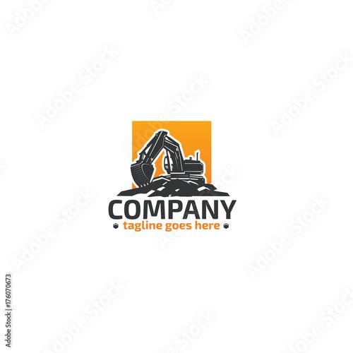 Excavator, Heavy Equipment logo.