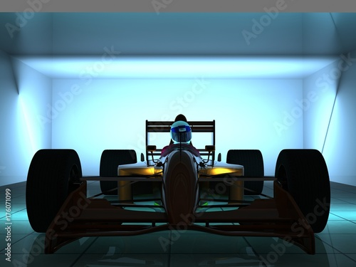 Tuinposter F1 Racing cars