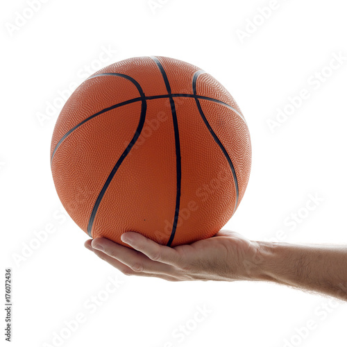 Fotobehang Basketbal Man holding basketball