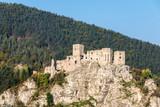 Ruins of Slovak medieval Strecno castle - 176072618