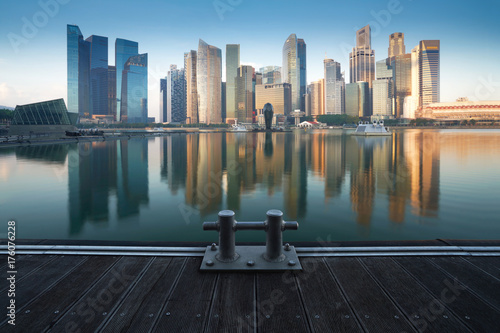 Cityscape Singapore Panoramic Concept Poster
