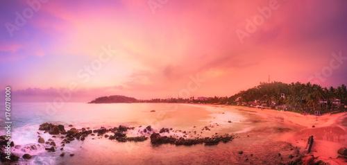 Staande foto Koraal Tropical beach on sunset