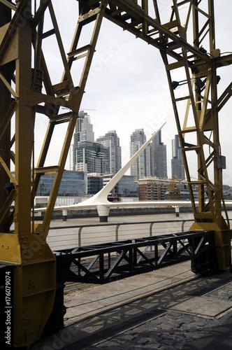 Keuken foto achterwand Buenos Aires Puente de la Mujer Puerto Madero Buenos Aires Argentina