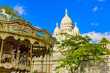 Sacred Heart Cathedral in Montmartre district in Paris