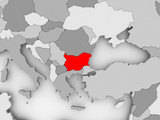 Map of Bulgaria - 176085234