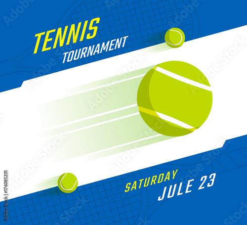 Fototapeta Tennis championship poster