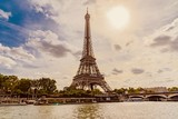 panorama of Paris Eiffel Tower in France