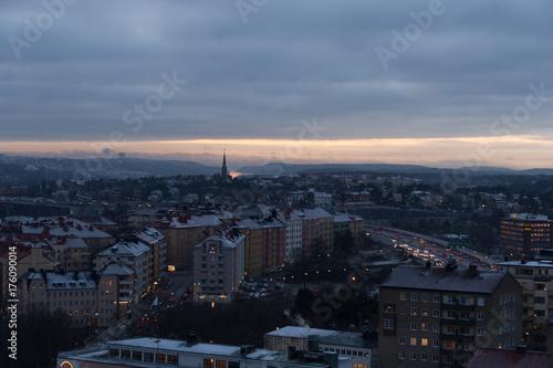 Foto op Aluminium Stockholm vy över stockholm