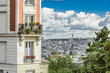 view of the palaces and streets of Paris in France - 176094065