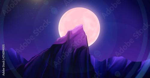 Foto op Canvas Violet horror background