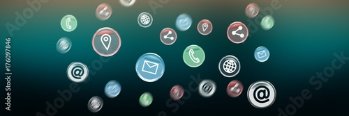 Composite image of contact icon  - 176097846