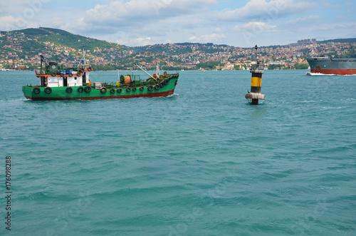 Straits of Bosphorus near Istanbul, Turkey Poster