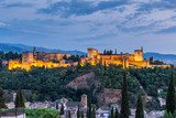 Alhambra of granada during sunset time,Spain - 176098696