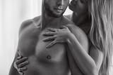 Woman touching her boyfriend - 176099815