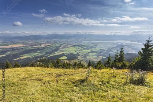 Foto op Canvas Pistache Liptov valley from Babky peak, Slovakia