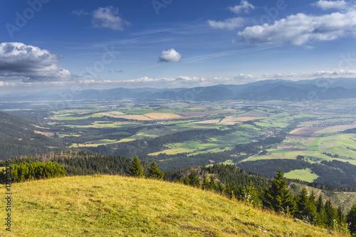 Foto op Canvas Pistache Liptov valley in summer, Slovakia