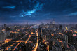 Quadro Shanghai cityscape and skyline and sunrise