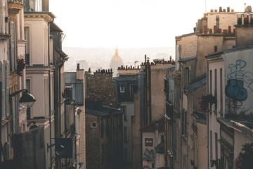 House Fassades seen from Montmartre - Paris