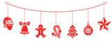 Weihnachten Dekoration mit Weihnachts Icons - 176106673